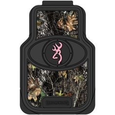 Camo isn't just for the guys. Be the first girl in your circle to sport a pair of Mossy Oak universal truck floor mats with a Browning Buckmark logo and Pink trim to provide just a hint of that feminine touch.