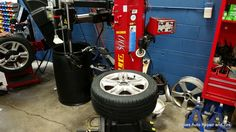 Having the right tire changing equipment like this Corgi tire machine is safe to use on Mercedes Wheels
