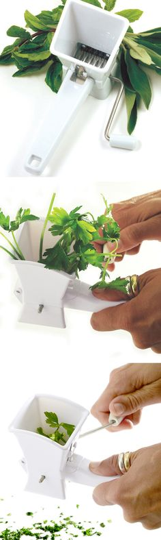 Herb mill // quickly grinds and minces parsley, sage or any other herb by simply turning the handle #product_design