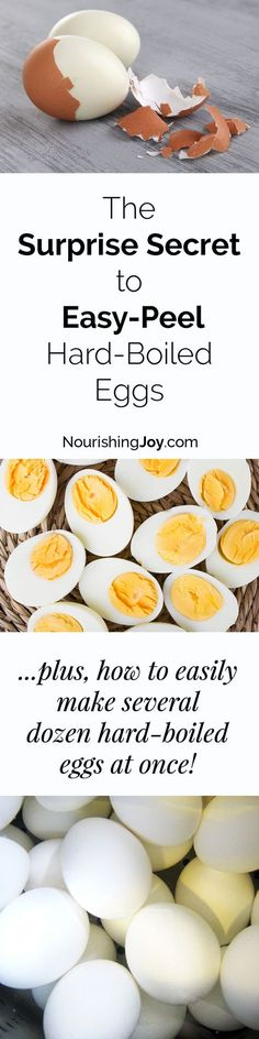 It's easier to make EASY-PEEL hard-boiled eggs than I thought. Plus, with this method, you can make several dozen hard-boiled eggs all at once!