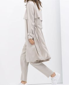 Image 3 of LOOSE-FIT TRENCH COAT from Zara