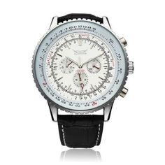 JARAGAR Automatic Mechanical Big Dial Multi Number Precise Watch #jaragar #Fashion
