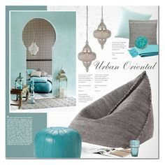 """Urban Oriental Interior"" by anna-anica ❤ liked on Polyvore featuring interior, interiors, interior design, home, home decor, interior decorating, Gandía Blasco, Moroccan Prestige, Serena & Lily and Jaipur"