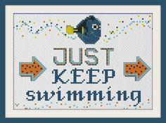 This inspirational Finding Nemo quote. | 21 Disney Cross Stitch Designs You'll Want In Your Home