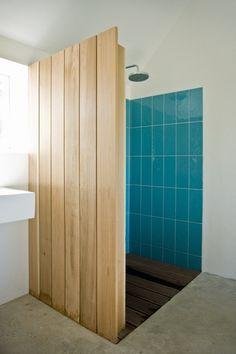 Summer House / LASC Studio #turquoise #tile