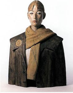 Katsura Funakoshi Japan - Sculptor Featured in the Winter 2016 issue Sculpture Head, Wood Sculpture, Ceramic Figures, Expositions, Environmental Art, Ceramic Clay, Figurative Art, Unique Art, Wood Art
