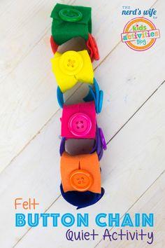 Felt Button Chain