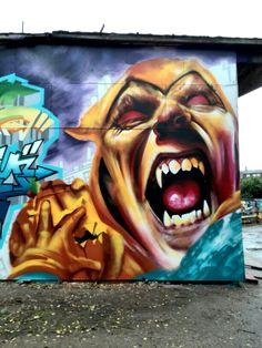 Street art - Christiana, Copenhagen, Danemark