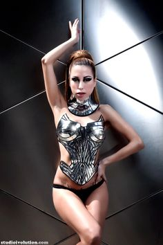 metropolis corset sci fi costume metal corset  burlesque fetish cyberpunk futuristic clothing divamp couture lady gaga goddess burningman by divamp on Etsy https://www.etsy.com/listing/119807776/metropolis-corset-sci-fi-costume-metal