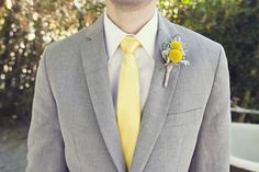 brides of adelaide magazine - yellow wedding - yellow and gray - grooms attire - suit