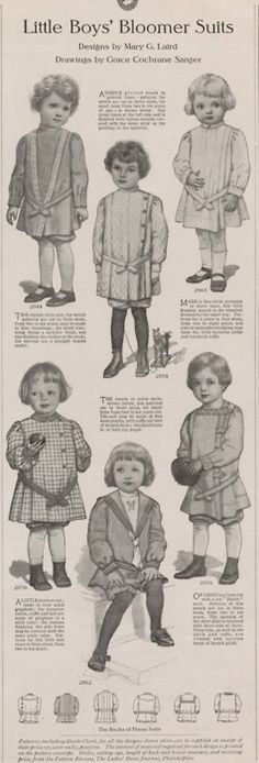 Vintage ad for little boy bloomers - The most beautiful children's fashion products Vintage Advertisements, Vintage Ads, Vintage Sewing, Most Beautiful Child, Beautiful Children, Fashion Now, Kids Fashion, Retro Illustration, Illustrations