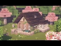 Minecraft Small House, Minecraft Cottage, Easy Minecraft Houses, Minecraft House Tutorials, Minecraft Videos, Minecraft House Designs, Minecraft Decorations, Amazing Minecraft, Minecraft Tutorial