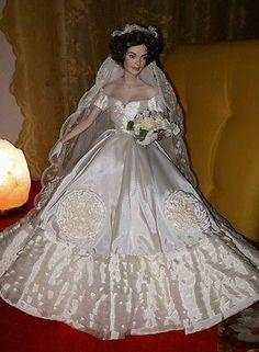 Brautpuppe Jacqueline Jackie Kennedy Franklin Mint Heirloom Dolls