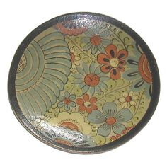 """Glazed Mexican """" Tourista"""" Plate 