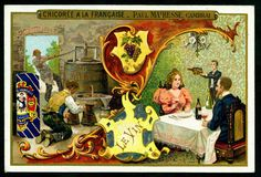 Chicoree - Drinks - Wine. French tradecard c1900.