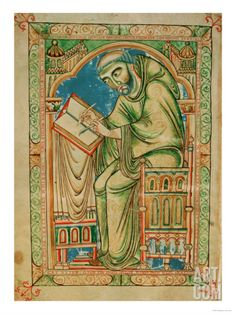 Monk Eadwine at Work on the Manuscript, circa 1150. Feel like my office might need some inspiration from the ancient editors.