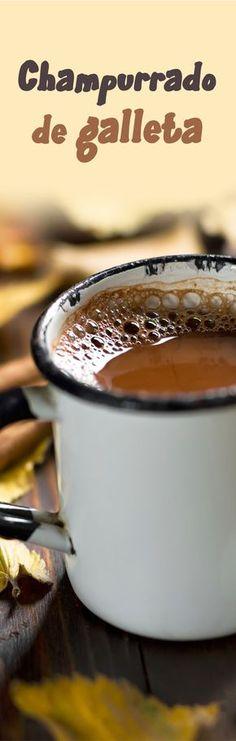 Delicioso atole de champurrado de galleta con chocolate delicioso y fácil de hacer