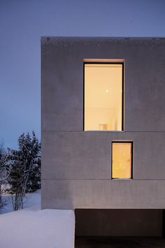 Aerated concrete used for family residence on the Stockholm archipelago.