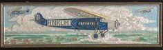 KLM Tegel  in cloisonné-techniek  Porceleyne Fles