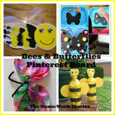 Bee and Butterfly Crafts Pinterest Board
