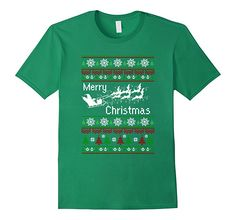 Men's Funny Bats Xmas Tee Ugly Christmas Sweaters T-shirt 2XL Kelly Green