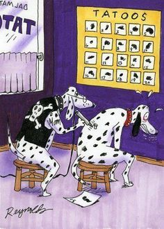 Dalmation Tattoo(s). Cute cartoon.