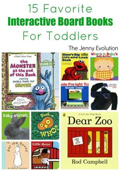 Favorite Interactive Toddlers Board Books | The Jenny Evolution