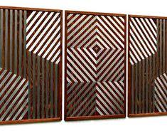 MetalDiorama & WoodArt by MetalDioramaWoodArt on Etsy Wood Wall Decor, Wood Wall Art, Geometric Wall, Modern Wall Art, Bedroom Wall, Living Room Decor, Etsy Seller, Creative, Home Decor