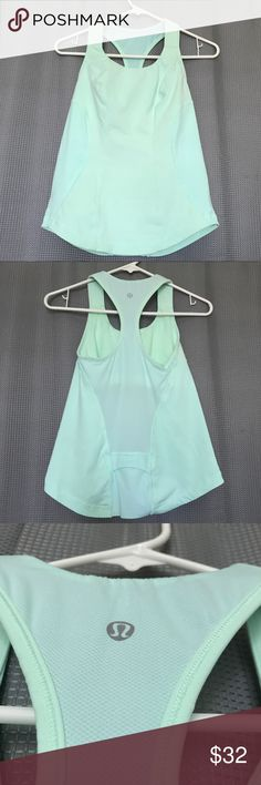 Lululemon 6 Cardio Kick Racerback Tank Fresh Teal Key features tuck your tunes in the rear pocket - a cord exit for your headphones keeps you connected mesh panels in the back and bra help you let off steam Power Luxtreme fabric is moisture wicking to handle your sweatiest sweats chafe-resistant flat seams so you don't get rubbed the wrong way Tech specs designed for: gym, run, everything! fabric(s): Power Luxtreme, anti-stink mesh properties: quick drying, moisture wicking, chafe resistant…