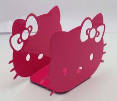 Hello Kitty Book Ends Pink Metal New  Sanrio
