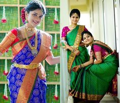 Looking for latest pattu saree color combinations to try ? Check our extensive list of all possible silk saree shade that is going to leave you in awe! Elegant Design Indian Sari Press VISIT link above for more options Latest Pattu Sarees, Pattu Sarees Wedding, Uppada Pattu Sarees, South Indian Bride, Indian Bridal, Saree Color Combinations, Pattu Saree Blouse Designs, Modern Saree, Saree Trends