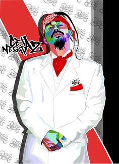 ilulstracion creada en base del arte wpap en representacion de Cejaz Negraz artista de rap colombiano para el mundo by: @davidstivenwild Hip Hop Fashion, Joker, The Originals, Gta 5, Tattos, Posters, Cars, Random, Style