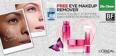 #DischemBeautyFair offer: Free Eye make-up remover when you buy any 2 skin perfection products.