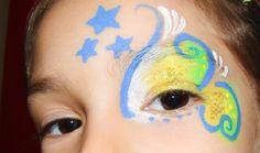 makeup girl/artistic painting - Pintura artística menina para Copa do Mundo! Mamães, suas filhas irão amar! Vejam aqui como fazer: http://mamaepratica.com.br/2014/06/16/copa-do-mundo-pintura-artistica-em-meninas/