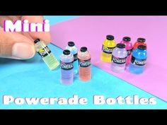 DIY Miniature Powerade Bottles - Sports Drink - Dollhouse - YouTube
