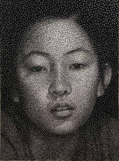 Remarkable Portraits Made with a Single Sewing Thread Wrapped through Nails by Kumi Yamashita. Constellation is an ongoing series of portraits by New York artist Kumi Yamashita known most prominently. Kumi Yamashita, Drawn Art, Illustration Art, Illustrations, Thread Art, Thread Painting, Artist Painting, Wow Art, Japanese Artists