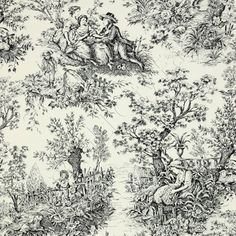 Timeless Treasures French Court Toile Ivory Black Cotton Quilt Fabric Yd | eBay