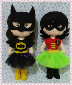 Minhas meninas, versão feminina para Batman e Robin 😍