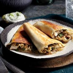 Poblano, Chicken, and Mushroom Quesadillas | MyRecipes.com