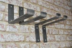 FREE DELIVERY ***25 YEARS MANUFACTURING RUSTIC METALWORKS BY HAND IN THE UK & IRELAND!*** THANK YOU for visiting. Your order goes towards my side business, helping people gain positive mental health - Free self help tips: Instagram @unshakeableminds ================================= AM I ACTUALLY Shelf Brackets Industrial, Steel Shelf Brackets, Rustic Industrial, Timber Shelves, Rustic Shelves, Pine Timber, Reclaimed Timber, Wooden Wine Boxes, Scaffold Boards