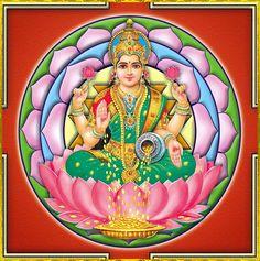 "☀ SHRI LAKSHMI DEVI ॐ ☀ ""I offer my obeisances unto the lotus-born mother of all beings, unto Sri the Goddess of fortune, having full-blown lotus-like eyes, and reposing in the bosom of Vishnu. Hanuman Images, Lakshmi Images, Lotus Drawing, Lord Vishnu Wallpapers, Radha Krishna Wallpaper, Goddess Lakshmi, God Pictures, Indian Gods, Archetypes"