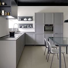 kitchen functional full of details.Designed with straight and minimalistic lines is the most comtemporary dica kitchen.