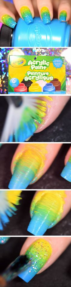 Acrylic Paint | DIY Back to School Nails for Kids | Awesome Nail Art Ideas for Fall