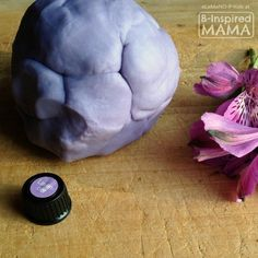 Essential Oils for Kids - An Easy Homemade Lavender Playdough Recipe for Soothing and Calming at B-Inspired Mama