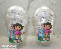 Dora the Explorer Birthday Party Popcorn Snack by FestiveCupboard