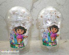 Dora the Explorer Birthday Party Popcorn Snack by FestiveCupboard