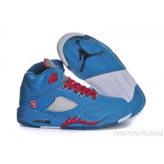 newest collection 7accc 20464 Buy Captain America Air Jordan 5 Womens Shoes Blue red White Gray For Sale  from Reliable Captain America Air Jordan 5 Womens Shoes Blue red White Gray  For ...