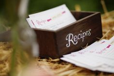 Like the idea of having recipe cards for things you make for a party. I've done this before and it's been a hit.