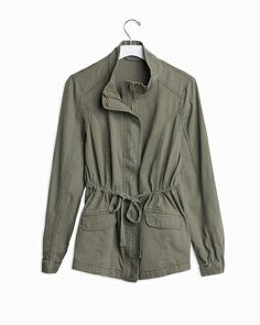 Looks both stylish and comfy, if not super warm. Perfect for fall!