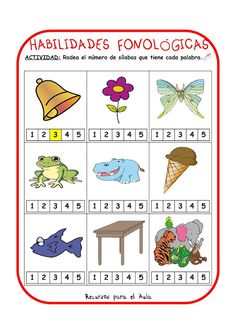 "LA CAJA MÁGICA DE LA ""SEÑO"" MERCEDES: HABILIDADES FONOLÓGICAS Speech Language Therapy, Speech And Language, Speech Therapy, Abc Centers, Reading Centers, Spanish Teaching Resources, Spanish Activities, Love Speech, Material Didático"